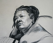 Hard Drawings - Gloria portrait by Morgan Banks
