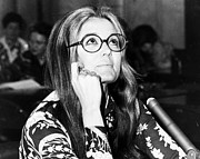Jewelry Photograph Framed Prints - Gloria Steinem (1934-) Framed Print by Granger