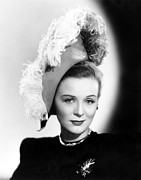 Feathered Hat Framed Prints - Gloria Stuart, Still From She Wrote The Framed Print by Everett