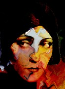 Abstract Face Paintings - Gloria Swanson Abstract by Stefan Kuhn