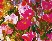 Fuschia Mixed Media Prints - Glorious Print by Beth Saffer