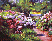 Impressionism Prints - Glorious Blooms Print by David Lloyd Glover