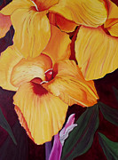 Canna Paintings - Glorious Canna Lily by Wayne Devon