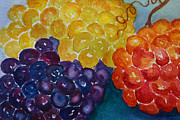 Grapes Paintings - Glorious Grapes by Kerri Ligatich