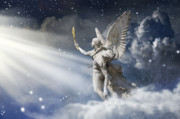 Angel Digital Art - Glorious by Marc Huebner