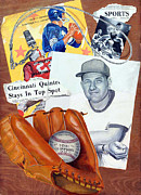 Baseball Glove Painting Metal Prints - Glory Days Metal Print by Harry West