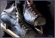 Antique Skates Posters - Glory Days Poster by Lori St Clair