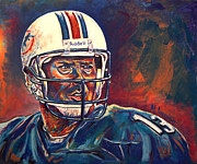 Dan Marino Art - Glory Days by Maria Arango