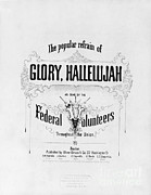 Abolition Posters - Glory, Hallelujah Poster by Photo Researchers
