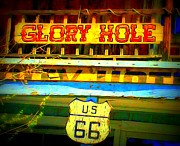 Old Signs Posters - Glory Hole Sign Poster by Randall Weidner