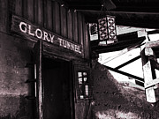Touristy Prints - Glory Tunnel Mine Entrance in Calico California Print by Susanne Van Hulst