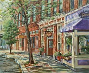 Store Fronts Painting Prints - Gloucester Around Town Print by Sharon Jordan Bahosh