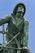 Glouster Metal Prints - Gloucester Fishermans Memorial Metal Print by John Greim