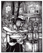 Maid Drawings - Gloucester Meter Maid by James Oliver