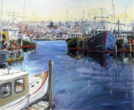 Gloucester Art - Gloucester Town Wharf by Chris Coyne