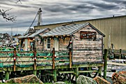 Glouster Metal Prints - Glouster Seaport Ice Cream Stand Metal Print by John Delong