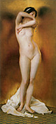 Nudes Paintings - Glow of Gold by William Mcgreggor Paxton