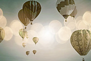 Celebration Art Print Photo Prints - Glow Sky Balloons Print by Andrea Hazel Ihlefeld