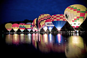 """hot Air Balloons"" Photos - Glowing Balloons by Keith Allen"