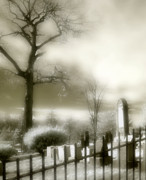 Graveyard Digital Art - Glowing Darkness by Gothicolors And Crows