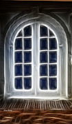 Window Panes Prints - Glowing Door Print by Cheryl Young