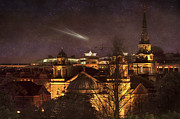 Cityscape Digital Art - Glowing Edinburgh by Svetlana Sewell