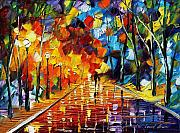 City Park Painting Originals - Glowing Feelings by Leonid Afremov
