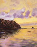 Red Point Paintings - Glowing Kualoa Diptych 2 of 2 by Patti Bruce - Printscapes