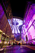 Berlin Germany Prints - Glowing Sony Center Print by Mike Reid