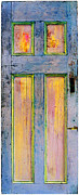 Blue Sculpture Metal Prints - Glowing Through Door Metal Print by Asha Carolyn Young