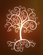 Root Digital Art Prints - Glowing Tree With Roots Print by Chad Baker