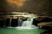 Glowing Waterfalls Print by Iris Greenwell