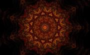 Glowing Within 3 Print by Rhonda Barrett