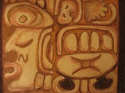 Mayan Paintings - Glyph 2 by Suzanne Buckland
