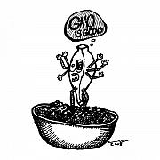 Cartoon Drawings - Gmo by Karl Addison