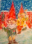 Tim Paintings - Gnome Bless Us by Nell Stockdall