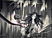 Manga Metal Prints - Go Dance Metal Print by Mo T