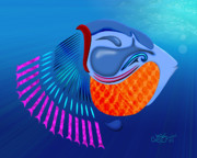 Go Fish Print by Linda Seacord
