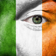 Facial Prints - Go Ireland Print by Semmick Photo