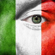 Italian Flag Posters - Go Italy Poster by Semmick Photo