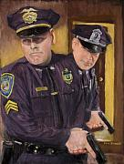 Police Pastels Framed Prints - Go on Three...1....2.... Framed Print by Jack Skinner