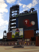 Citizens Bank Park Prints - Go Phillies - Citizens Bank Park - Left Field Gate Print by Bill Cannon