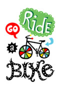 Biking Prints - Go Ride a Bike  Print by Andi Bird