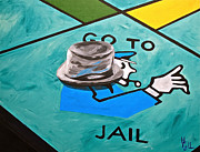 Monopoly Paintings - Go to Jail  by Herschel Fall