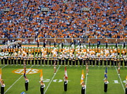 Marching Band Framed Prints - Go Vols Framed Print by April Patterson