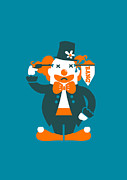 Clown Digital Art Posters - Go with a bang Poster by Budi Satria Kwan