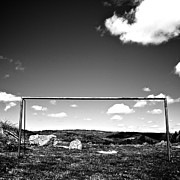 White Photo Posters - Goal Poster by Bernard Jaubert