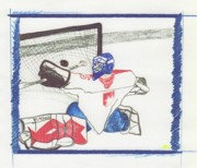 First Star Drawings - Goalie 2 by First Star Art