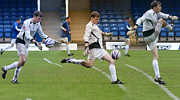 Goalkeeper Kicking Sequence Print by David Birchall