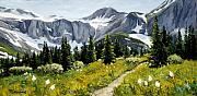 Glacier National Park Paintings - Goals by Mary Giacomini